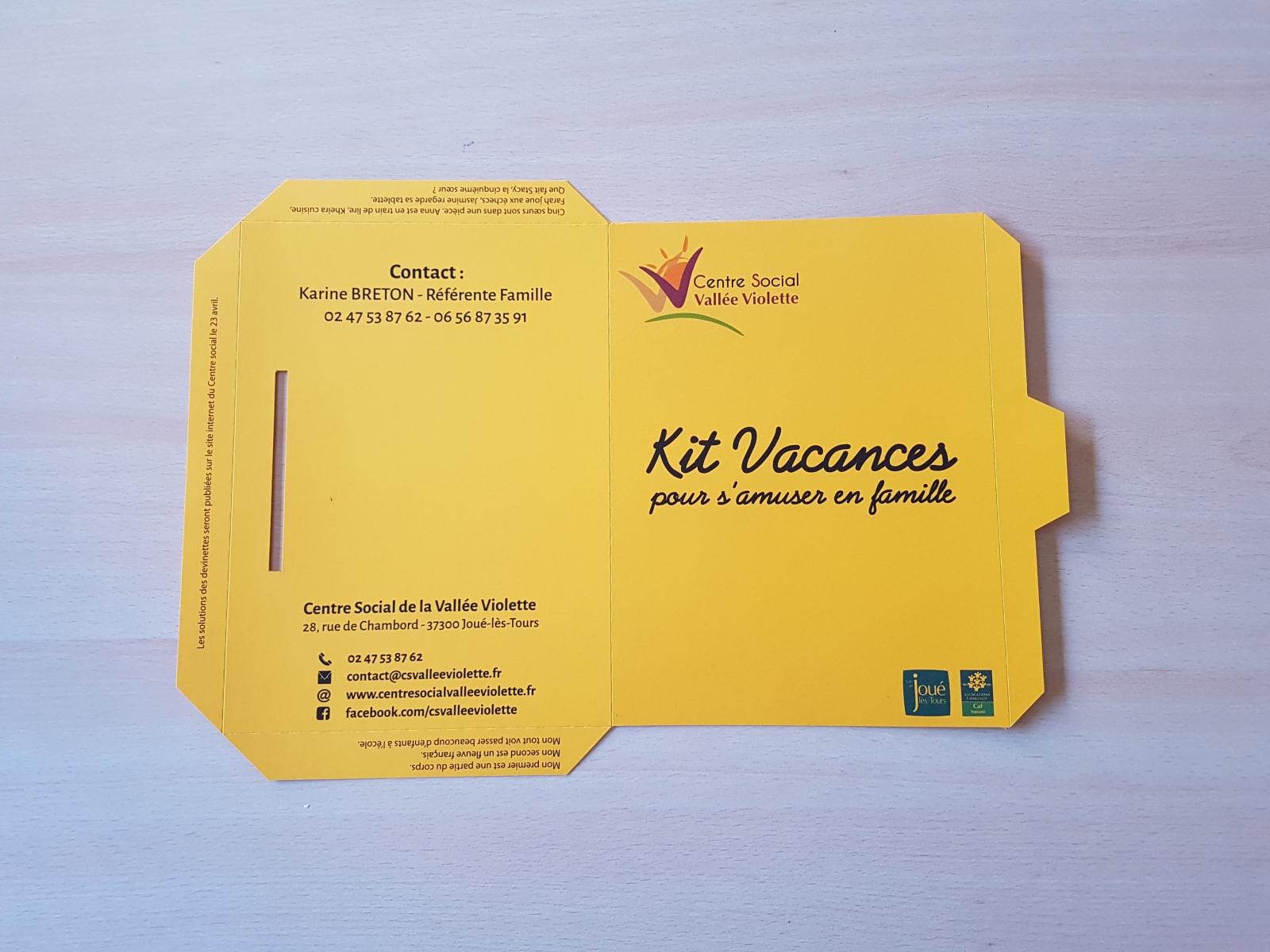 Kit Vacances pour s'amuser en famille